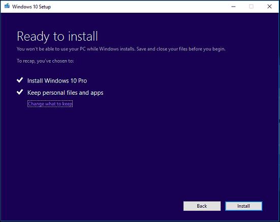 Start upgrade 9