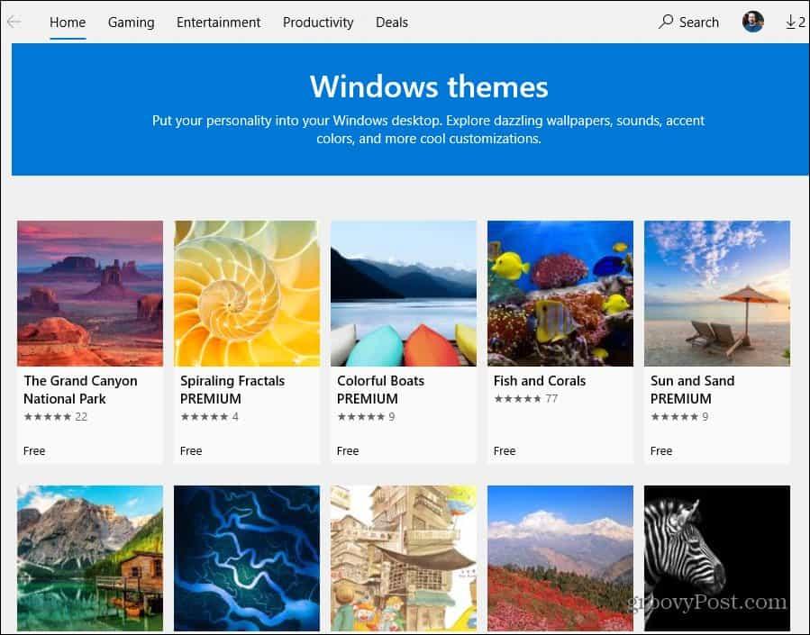 Themes Microsoft Store