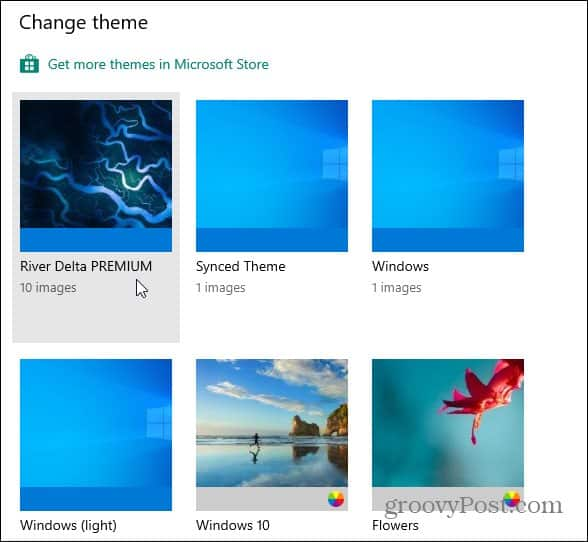 Windows 10 themes new