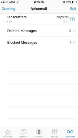 iphone blocked voicemail messages