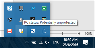 notification area icon