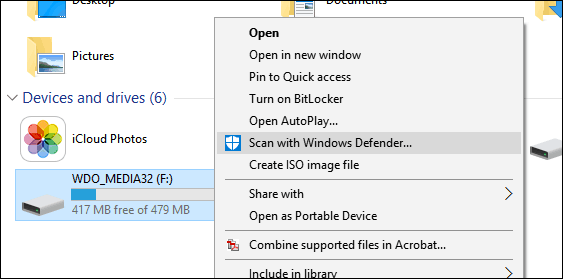 scanning external storage