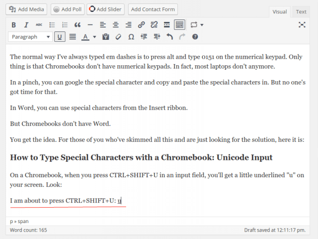 Type Special Characters With A Chromebook Accents Symbols Em Dashes