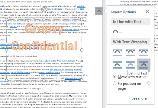 how to put watermark in word 2016