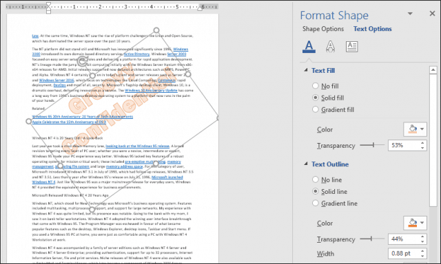 How to Add a Watermark to Documents in Microsoft Word 2016