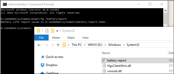 How to Generate a Battery Report in Windows 10