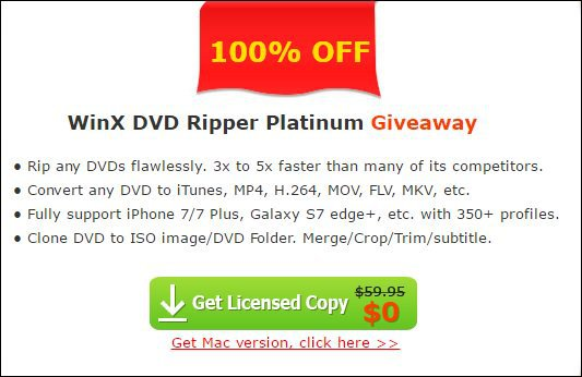 WinX DVD Ripper Black Friday