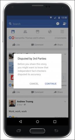 facebook fake news 3rd parties
