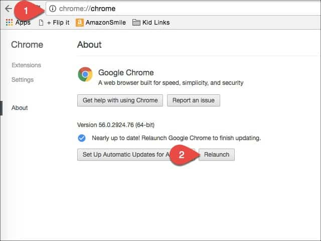 update google chrome using command line
