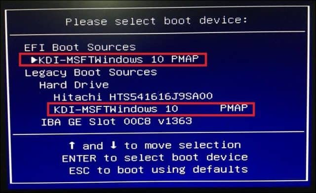 how to set bios to boot from usb windows 10