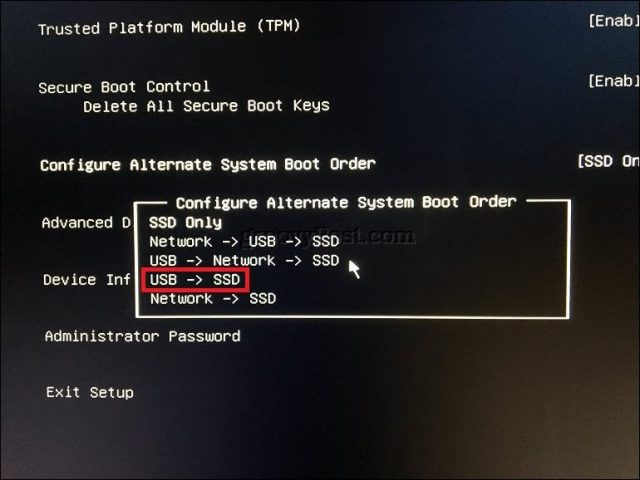 windows boot manager usb drive