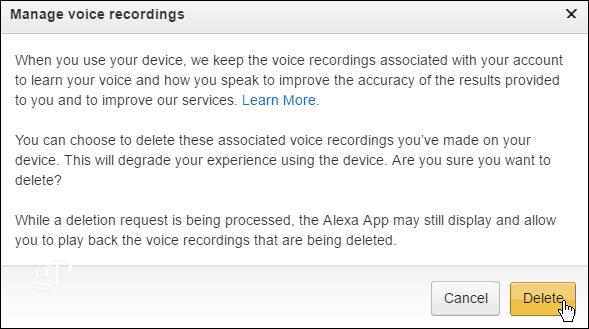 Delete All Recordings