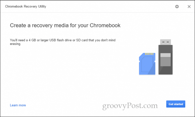 chromebook recovery utility get started