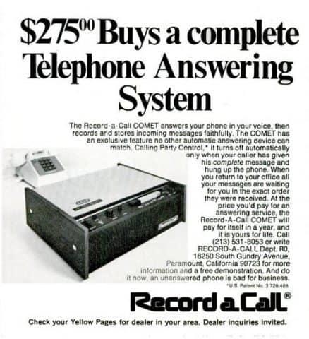 record a call comet