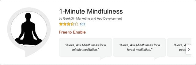 Amazon.com 1 Minute Mindfulness Alexa Skills 2017 02 23 21 09 16
