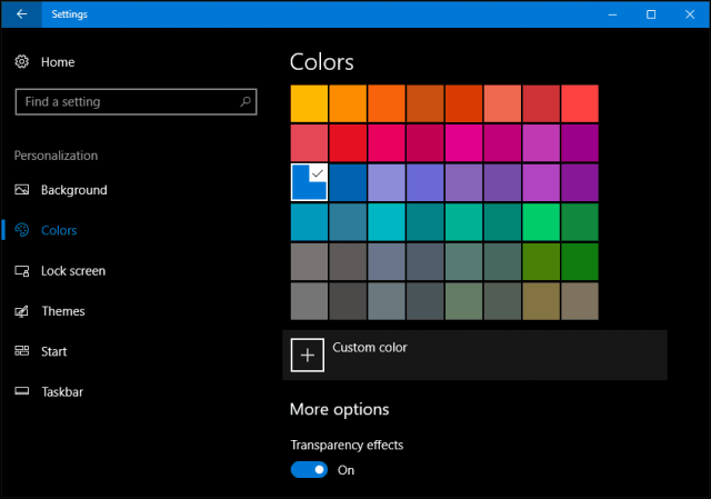 windows 10 creators update colors