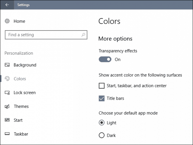 custom windows 10 creators update colors