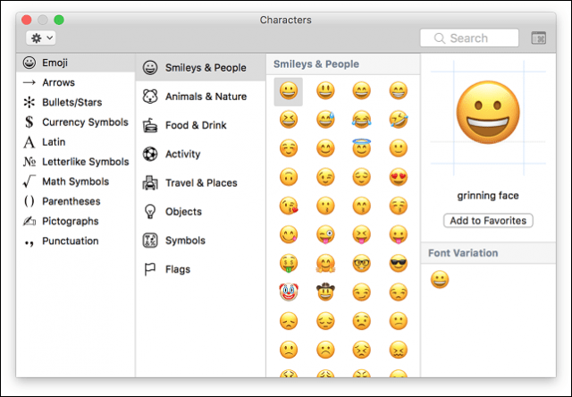 enable emoji macos keyboard
