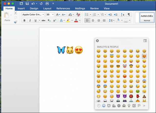 enable emoji macos keyboard microsoft word
