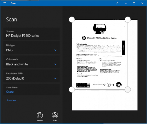 How to Scan Documents or Photos in Windows 10