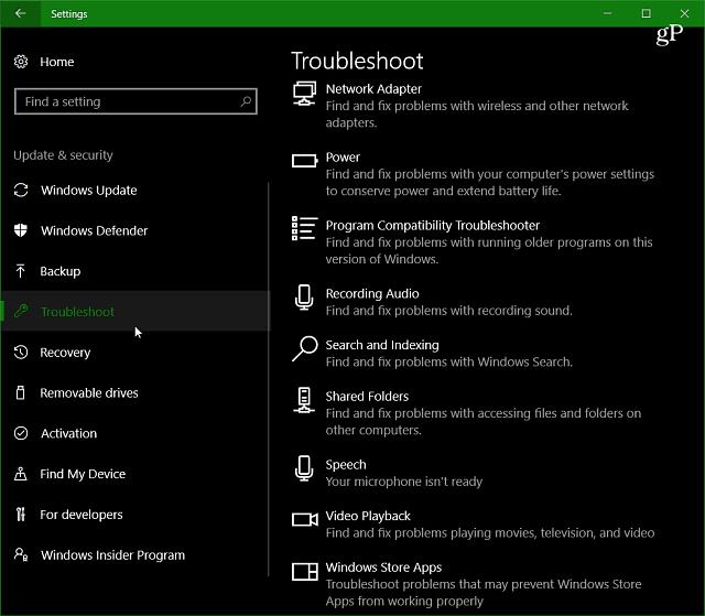 Windows 10 Creators Update Feature Focus: Troubleshooters