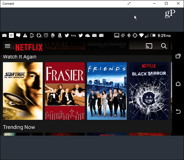 Netflix landscape Android Connect