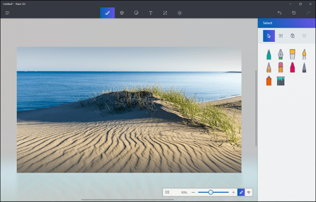 how to use paint windows10