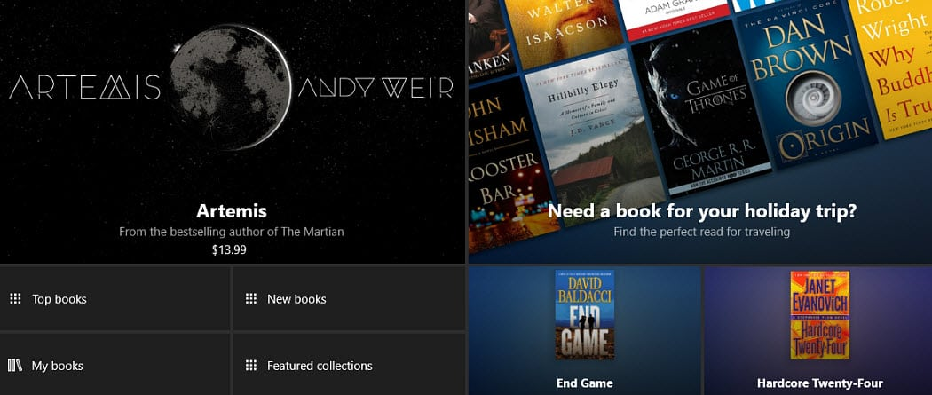 eBooks Windows 10