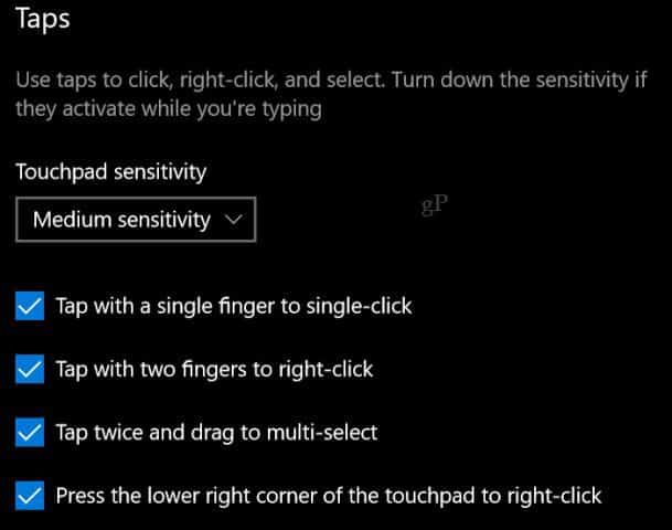 microsoft-precision-touchpad-taps