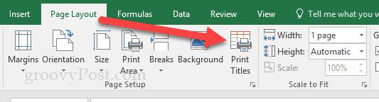 Cómo imprimir las filas de la cabecera en Excel 2016