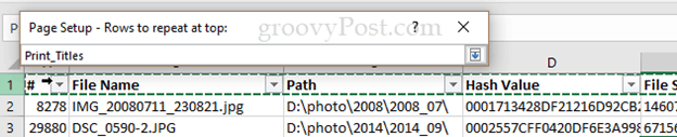 How to Print Header Rows in Excel 2016