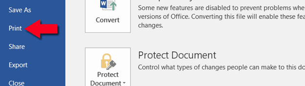 ms word print comments