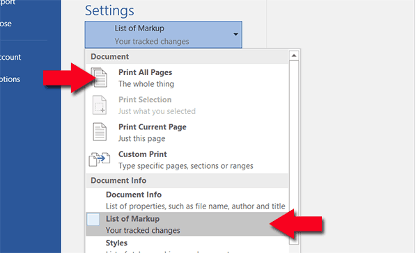 print pdf comments on one page