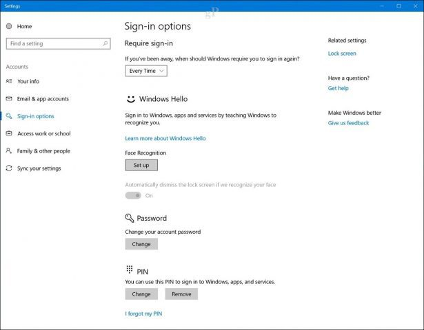 How to Set Up Windows Hello Facial Recognition to Sign in to
