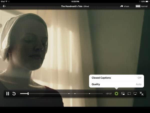 iPad Hulu Controls
