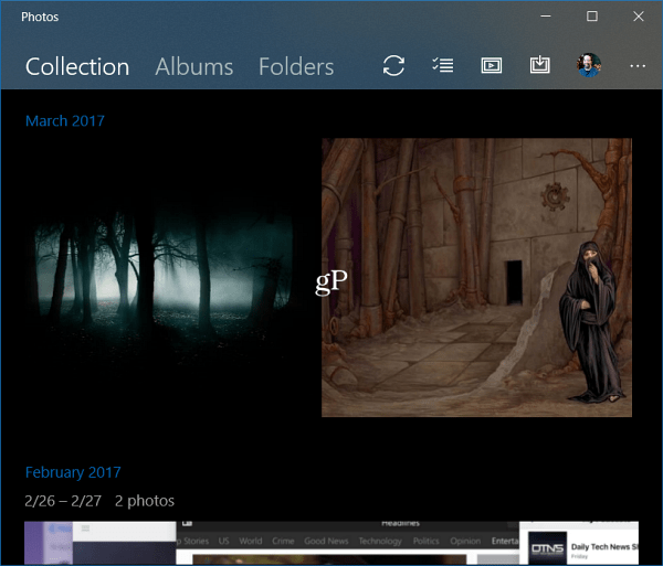 Windows 10 Photos