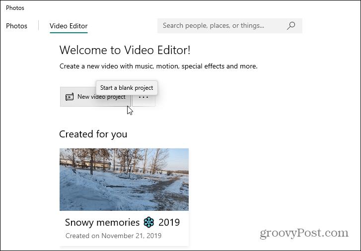 Video Editor Photos App Windows 10