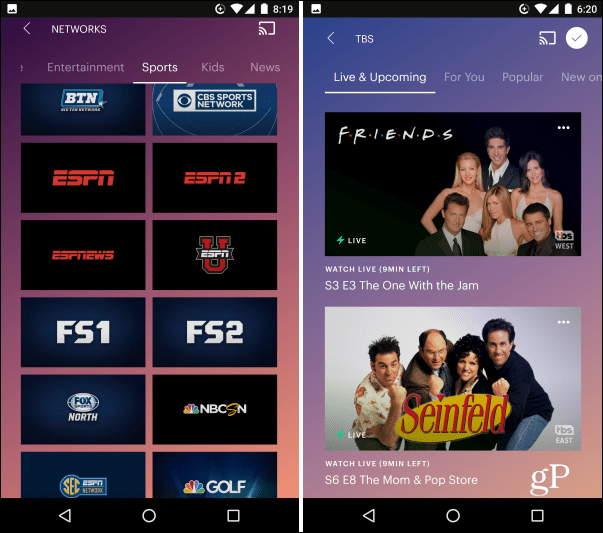 Hulu Live TV Android
