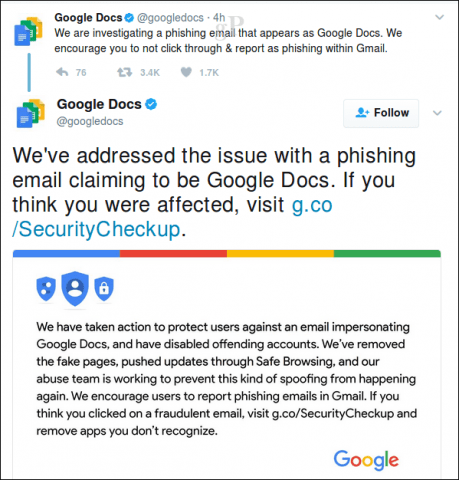 Google Docs Phishing Scam Hits Gmail - How to Protect Your Account