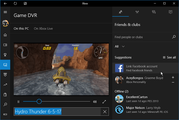 Change the Windows 10 Game DVR Captures Folder Location