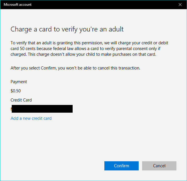 microsoft account age verification COPPA