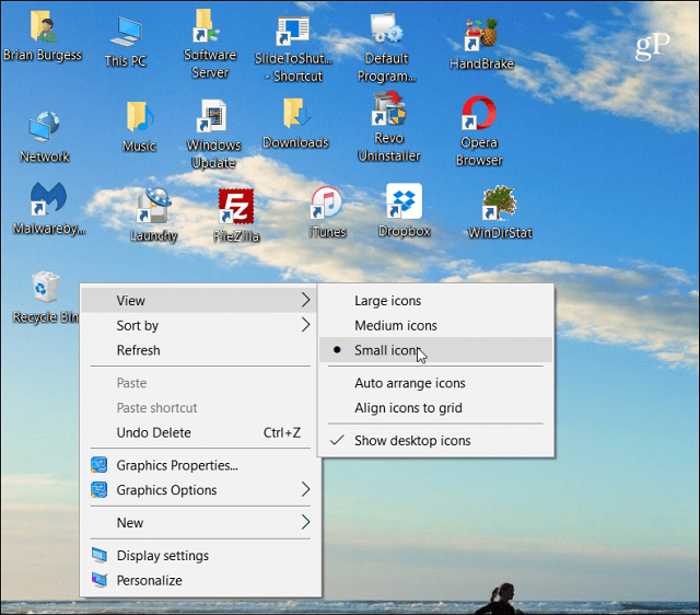 How to Change the Size of Desktop Icons and More in Windows 10