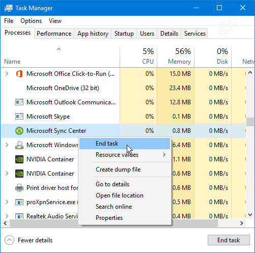 How to Stop Sync Center (Mobsync exe) from Running in Windows