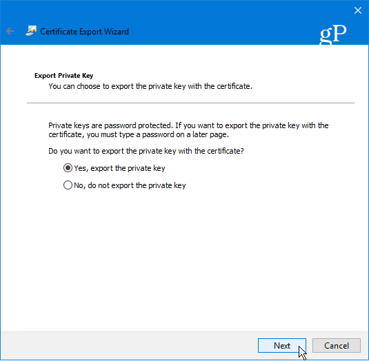 export EFS private key