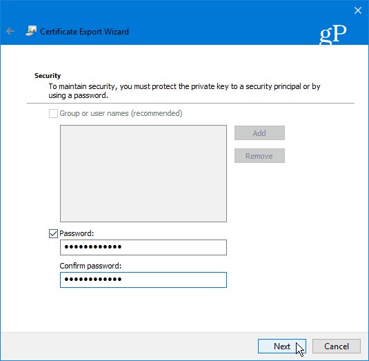 3 EFS Key Password
