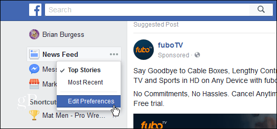 4 Edit Feed PReferences