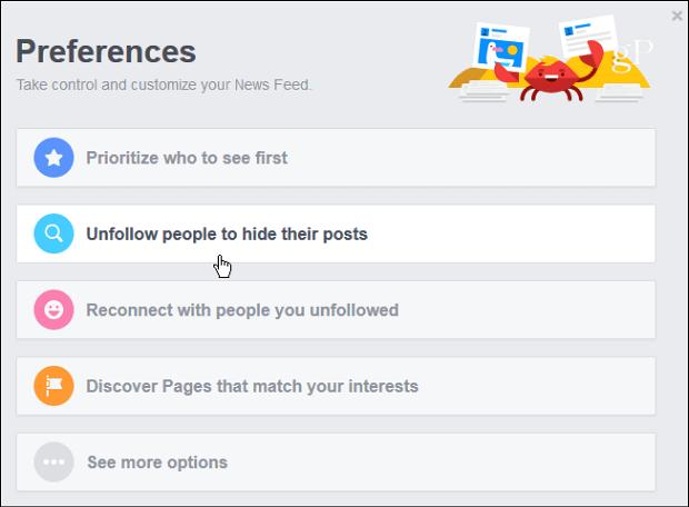 5 Preferences