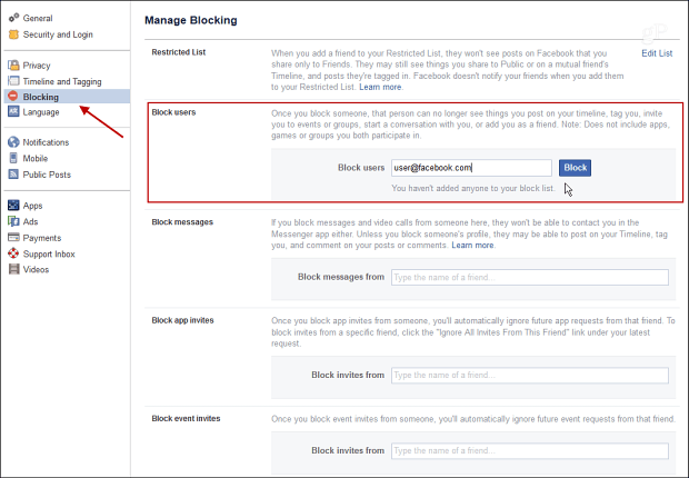 7 Facebook Blocking
