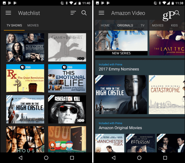 amazon prime streaming video android app