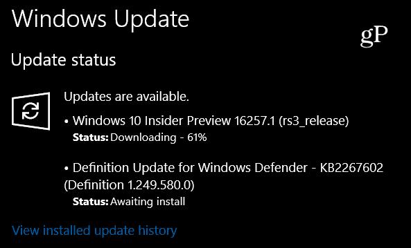 Insider Build 16257